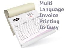 Now Print Your Invoices In Hindi or Any Other Language In Busy