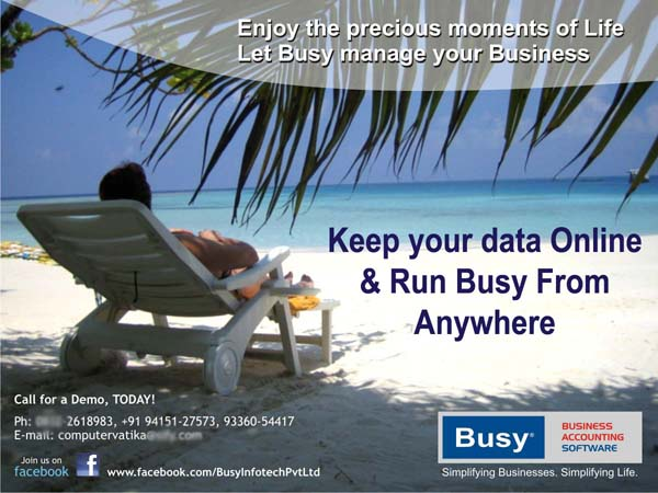 How to run your Busy Accounting Software Online (Anytime From Anywhere)